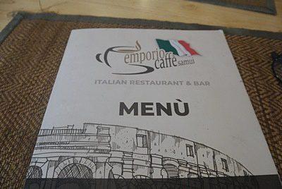 サムイ島のおすすめレストラン-emporio caffeのメニュー
